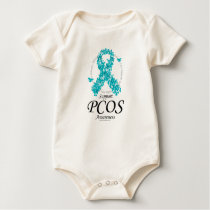PCOS Ribbon Of Butterflies Baby Bodysuit
