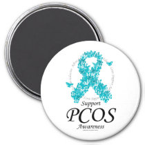 PCOS Ribbon Of Butterflies Magnet