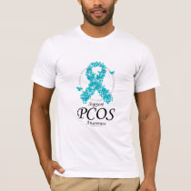 PCOS Ribbon Of Butterflies T-Shirt