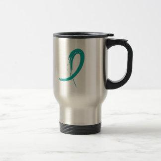 PCOS s Teal Ribbon A4 Mug