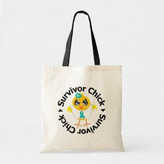 PCOS Survivor Chick Canvas Bag