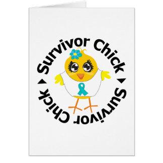 PCOS Survivor Chick Greeting Card