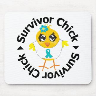 PCOS Survivor Chick Mousepads
