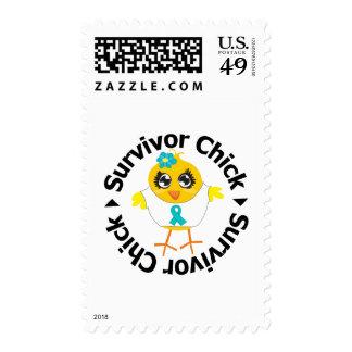 PCOS Survivor Chick Stamp