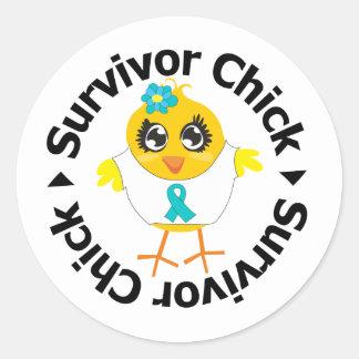 PCOS Survivor Chick Stickers