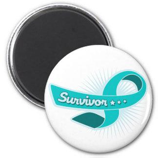 PCOS Survivor Ribbon Refrigerator Magnets