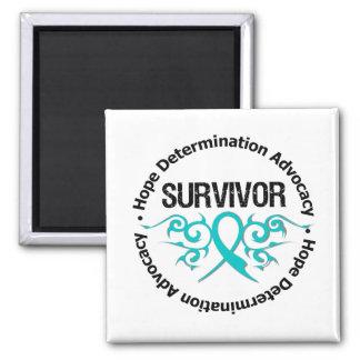 PCOS Survivor Tribal Ribbon Fridge Magnet