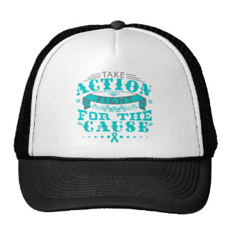PCOS Take Action Fight For The Cause Trucker Hat