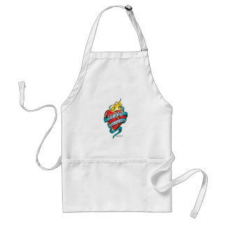 PCOS Tattoo Heart Adult Apron