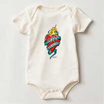 PCOS Tattoo Heart Baby Bodysuit