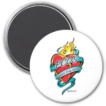 PCOS Tattoo Heart Magnet
