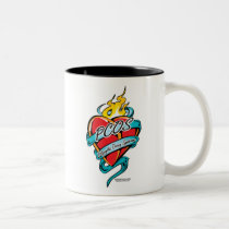 PCOS Tattoo Heart Two-Tone Coffee Mug