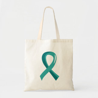 PCOS Teal Ribbon 3 Tote Bags