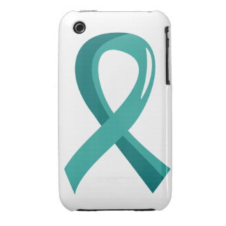 PCOS Teal Ribbon 3 iPhone 3 Cover