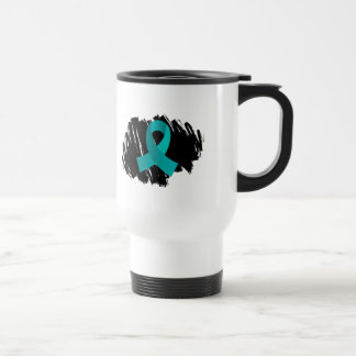PCOS Teal Ribbon With Scribble Coffee Mug