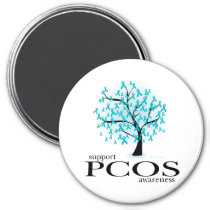 PCOS Tree 3 Inch Round Magnet