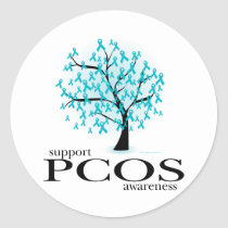 PCOS Tree Classic Round Sticker