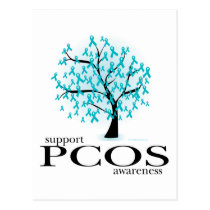 PCOS Tree Postcard
