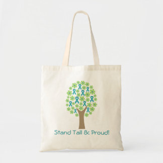 PCOS Tree Tote - Stand Tall and Proud Budget Tote Bag