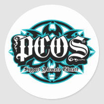 PCOS Tribal Classic Round Sticker