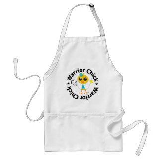 PCOS Warrior Chick Adult Apron