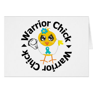 PCOS Warrior Chick Greeting Card
