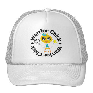 PCOS Warrior Chick Trucker Hat