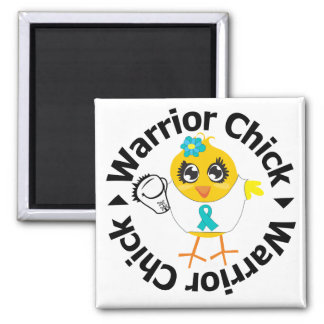 PCOS Warrior Chick 2 Inch Square Magnet