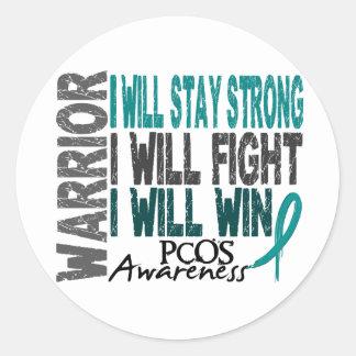 PCOS Warrior Classic Round Sticker