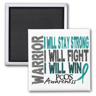 PCOS Warrior 2 Inch Square Magnet