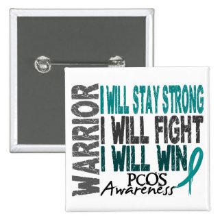 PCOS Warrior Pin