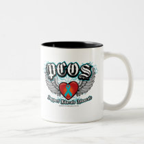 PCOS Wings Two-Tone Coffee Mug
