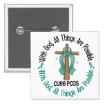 PCOS With God Cross Button