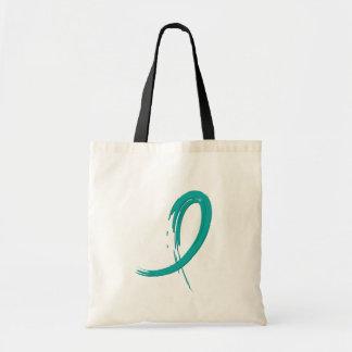 PCOS's Teal Ribbon A4 Bag