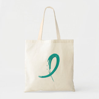 PCOS's Teal Ribbon A4 Budget Tote Bag