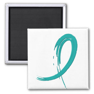 PCOS's Teal Ribbon A4 Magnet