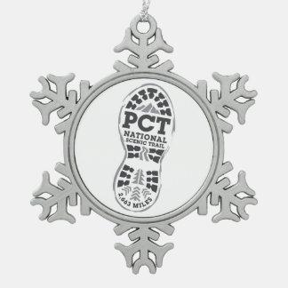 PCT SNOWFLAKE PEWTER CHRISTMAS ORNAMENT