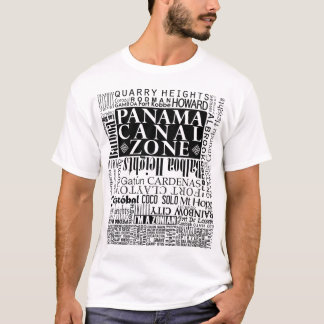 PCZ – Panama Canal Zone Locations in Black T-Shirt