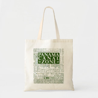 PCZ – Panama Canal Zone Locations with Map / Green Tote Bag
