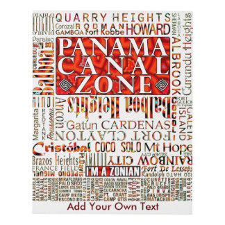PCZ – Panama Canal Zone Locations wth Mola Design Panel Wall Art