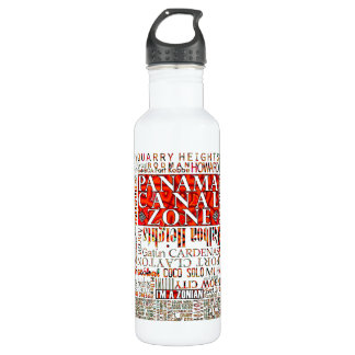 PCZ – Panama Canal Zone Locations wth Mola Design Water Bottle
