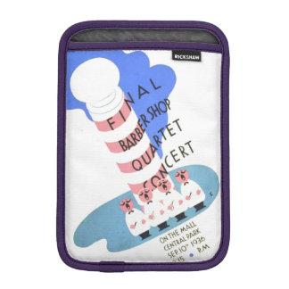 PD0052 Vintage Barber Shop Quartet Concert Poster. Sleeve For iPad Mini