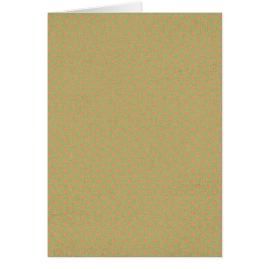 pd18-greenorange GREEN ORANGE POLKADOTS PATTERN RE Card