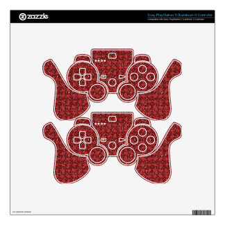 pd29 RED GLITTER POLKADOT BACKGROUNDS PATTERNS POL Skins For PS3 Controllers