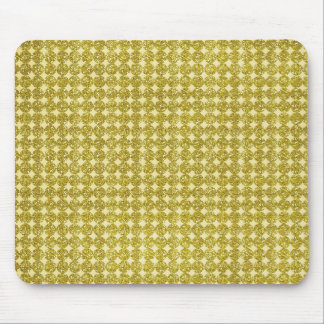 pd29 YELLOW GOLDEN GLITTER POLKA-DOTS PATTERN BACK Mouse Pad