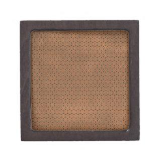 pd30 PRECIOUS CHOCOLATE BROWN POLKA-DOTS PATTERN B Premium Trinket Box