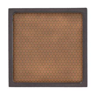 pd30 PRECIOUS CHOCOLATE BROWN POLKA-DOTS PATTERN B Premium Gift Box