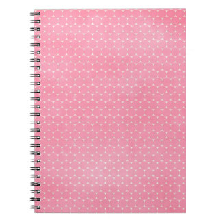 pd30 PRECIOUS PINK POLKA-DOTS PATTERN BACKGROUNDS Spiral Notebook