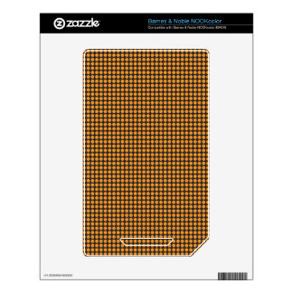 pd41 ORANGE BLACK OPTICAL ILLUSIONS  CIRCLES POLKA Decal For The NOOK Color