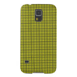 pd41 YELLOW BLACK OPTICAL ILLUSIONS  CIRCLES POLKA Galaxy S5 Cover